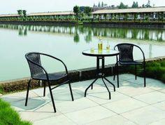 From 49.99 Garden Patio All Weather Black Wicker 3 Piece Bistro Set Patio Outdoor Furniture