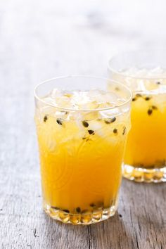 Meyer Lemon & Passion Fruit Lemonade - two favorite flavors come together in a refreshing summertime drink!