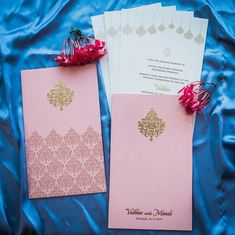 Indian wedding invitation cards design in pastel colors designer collection from Jimit Cards Indian Wedding Invitation Cards, Wedding Invitation Card Design, Indian Wedding Cards, Wedding Invitations Online, Handmade Wedding Invitations, Flower Invitation, Destination Wedding Invitations, Letterpress Wedding Invitations, Wedding Stationery