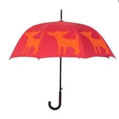 Keep yourself dry during these crazy showers! Lots of breeds to choose from! http://www.upscalepup.com/dog-breed-walking-stick-umbrella.html