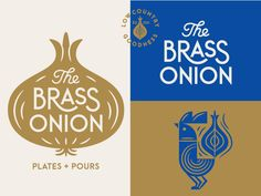 The Brass Onion Identity Materials designed by Tad Carpenter. Connect with them on Dribbble; the global community for designers and creative professionals. Brand Identity Design, Branding Design, Packaging Design, Brochure Design, Icon Design, Restaurant Branding, Logo Branding, Visual Identity, Corporate Identity