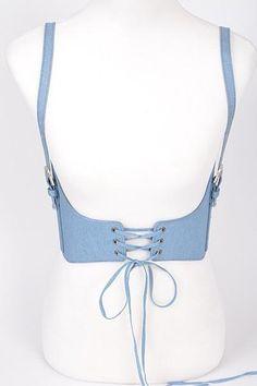 Denim Lace up Waist Belt Denim Corset Belt, Blue Corset, Fat Fashion, Fashion Terms, Diy Clothes, Fashion Accessories, Collection, Smee Costume, Grills