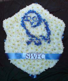 SWFC Owls Shield Funeral Flowers Monica F Hewitt Florist Sheffield