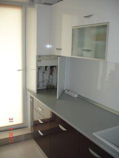 Boiler Cover Ideas, Interior Design Living Room, Living Room Designs, Kitchen Furniture, Kitchen Decor, Multifunctional Furniture, Kitchen Design, Kitchen Cabinets, House Design