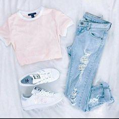 the-fashion-fantasy: mode / hipster / grunge Teenager Mode, Teenager Outfits, Teenager Fashion, Freshman Outfits, Casual Summer Outfits, Spring Outfits, Spring Shoes, Trendy Outfits For Teens, Outfits 2016
