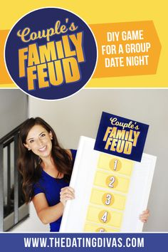 """A Family Feud game for a hilarious couple's date night! Play this version of the popular game show """" Family Feud Game Questions, Question Games For Couples, Games For Married Couples, Couple Games, Family Games, Geek Couple, Couple Fun, Family Family, Date Night Games"""