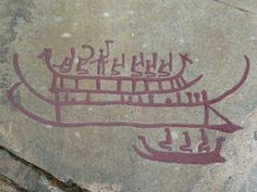 Rock art of bronze Age Boats.