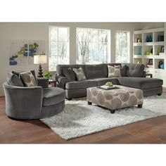 Catalina Gray Upholstery 2 Pc. Sectional   Furniture.com