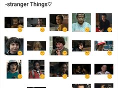 Stranger Things Sticker Pack #Telegram #Stickers Telegram Stickers, Stranger Things, Packing, Strange Things, Bag Packaging