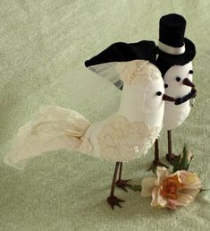 Vintage Bird Cake Toppers on Etsy