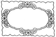 Ubrus obdélník richelieu, 62 x 41 cm