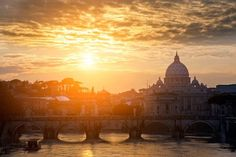 il meraviglioso tramonto a Roma ....