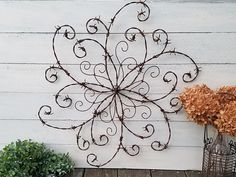 Barbed Wire Swirl Wrought Iron Swirl Barbed Wire Wall Decor