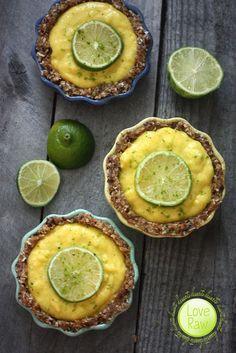 Raw vegan mango tart