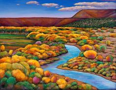 """Rio Chama."" Landscape painting from the desert of New Mexico near Ghost Ranch / Abiquiu. Painting on canvas by artist Johnathan Harris."