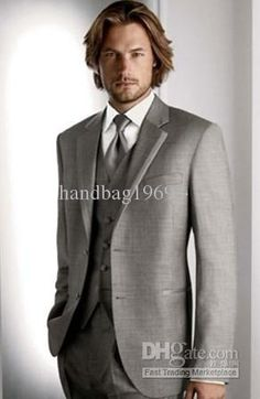 Light Grey Men's Wedding Dress Bridegroom Prom Party Clothing Suits Groom Tuxedos A:318, $99.19-135.7/Piece | DHgate