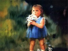 """""""For You"""", by American artist - Donald Zolan (1937-2009), Oil on canvas."""