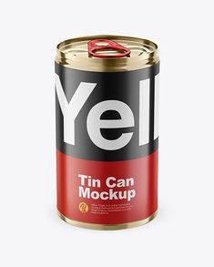 Tin Can w/ Pull Tab Mockup. Present your design on this mockup. Simple to change the color of different parts and add your design. Includes special layers and smart objects for your creative works. Free Macbook Pro, Billboard Signs, Tin Cans, Mockup Templates, Creative Words, Spare Parts, Cool Artwork, Packaging Design, Animation