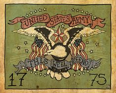 US Army This We'll Defend tattoo art 8x10 5/50 limited by Nito71, $20.00