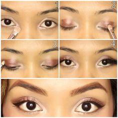 Pearl silver bronze eye makeup tutorial #evatornadoblog