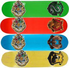 """""""Hogwarst House Skateboards"""" by slytherinprincess2013 ❤ liked on Polyvore"""