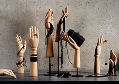 Vintage collection of window display hands. #retail #fashion #VisualMerchandising #atelier #vintagemannequin