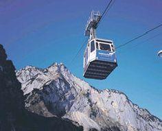 Cable car ride to the top of Untersberg near Salzburg, Austria.
