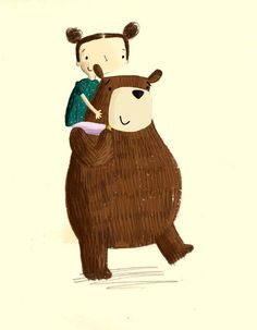 Becky Down Illustration Cute Animal Drawings, Cute Drawings, Animal Doodles, Cute Teddy Bears, Bear Art, Children's Book Illustration, Illustrations Posters, Cute Animals, Character Design