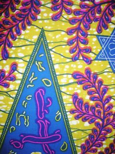 VIBRANT WAX BLOCK Print By The Yard by TTNEST on Etsy, $25.00
