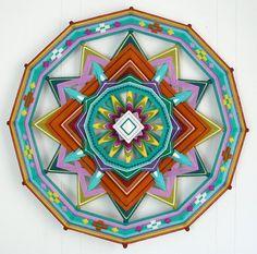 Show Tell Share: SPOTLIGHT - God's Eye Yarn Art: Eye Candy by Jay Mohler