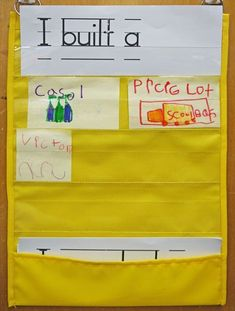 Add to building center for kids to write what they made! BALANCEDLITERACYDIET :: index :: Balanced Literacy Diet #daycarerooms