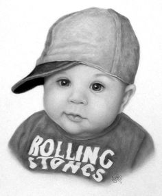 Leon, cool dude. I loved drawing him, his expression was priceless. Realistic graphite pencil drawing. JebsArt, Art, artist, artwork drawings, graphite, pencils, portraits. Drawing babies.