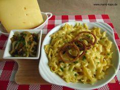 Pasta-Freitag: Allgäuer Käsespätzle mit geschmorten Zwiebeln - Mario´s Fire Food & Fine Food Impressum: http://www.mario-kaps.de/impressum/