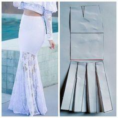 Dress Making Patterns, Skirt Patterns Sewing, Clothing Patterns, Sewing Clothes, Diy Clothes, Lace Gown Styles, Costura Fashion, Baby Girl Skirts, Pola Rok