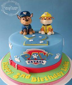 Paw Patrol Torte, Paw Patrol Cupcakes, Paw Patrol Cake Toppers, Paw Patrol Birthday Cake, Race Track Cake, Toddler Birthday Cakes, Dog Cakes, Celebration Cakes, Cake Decorating