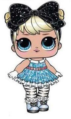 Le plus récent Coût -Gratuit lol suprise Populaire Lol Dolls, Cute Dolls, Kawaii Drawings, Cute Drawings, Lol Doll Cake, Doll Drawing, Glam And Glitter, Doll Party, Paper Dolls
