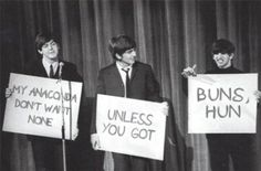I'm pretty sure this is photoshopped, but whatever(: Beatles Were Hilarious