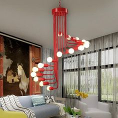 This fabulous spiral iron chandelier lamp is the perfect center piece for any space! Made from polished iron. Free Worldwide Shipping & Money-Back Guarantee White Chandelier, Chandelier In Living Room, Chandelier Lamp, Interior Lighting, Modern Lighting, Futuristic Lighting, Cabin Lighting, Arch Interior, Luxury Lighting