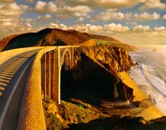 California Route 1, Pacific Coast Highway  from Southern California's Orange County to Northern California's Mendocino County, but its most famous stretch is the Big Sur section between San Simeon and Carmel.