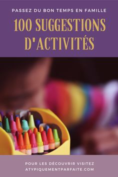 Bucket list d'activités simples #famille #enfants #activités #jouer #apprendre List, Jouer, Coin, Blogging, Thankful, Community, Happy, Good Times, Children