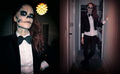 """I got the inspiration from Lady gaga's video """"Born this way"""", where she is dancing with Zombieboy (Rick Genest). I did not make my clothes but I spend alot of time on my make-up! :) I hope you like it!"""