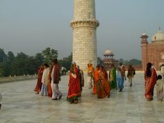 Taj Mahal Visitors in Agra India