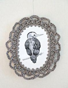 a creative cat: illustration & crochet frames