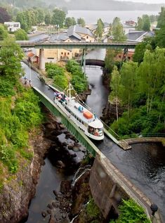 This aqueduct is not located in Holland/The Netherlands. It is in Haverud, Sweden Places Around The World, Oh The Places You'll Go, Places To Travel, Travel Destinations, Places To Visit, Around The Worlds, Holiday Destinations, Wonderful Places, Beautiful Places