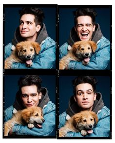 Brendon Urie Played With Puppies While Answering Fan Questions And It's Adorable Black Veil Brides, Emo Bands, Music Bands, Tim Burton, Dog Films, Marley And Me, The Wombats, Les Beatles, Panic! At The Disco