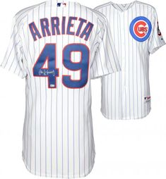 Jake Arrieta Cubs Signed White Authentic Jersey - Fanatics, Size: No Size, Multi Chicago Cubs Baseball, Baseball Jerseys, Chicago Cubs Memorabilia, Batting Gloves, Cubs Fan, American Sports, Autographed Baseballs, Fitness, Shopping
