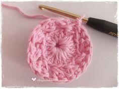 ♥ ElbeGlück ♥: Tutorial Häkelblüte .....