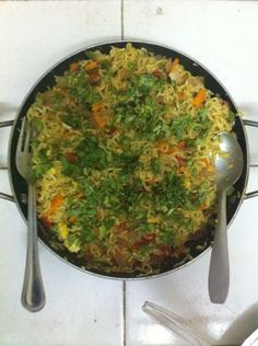 Maggi noodles with lots of vegetables!