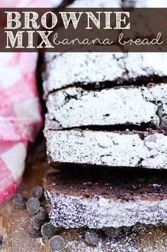 Brownie Mix Banana Bread