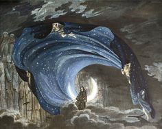 """The Queen of the Night from Mozart's """"The Magic Flute"""" (Die Zauberflöte) by Simon Quaglio, 1791"""